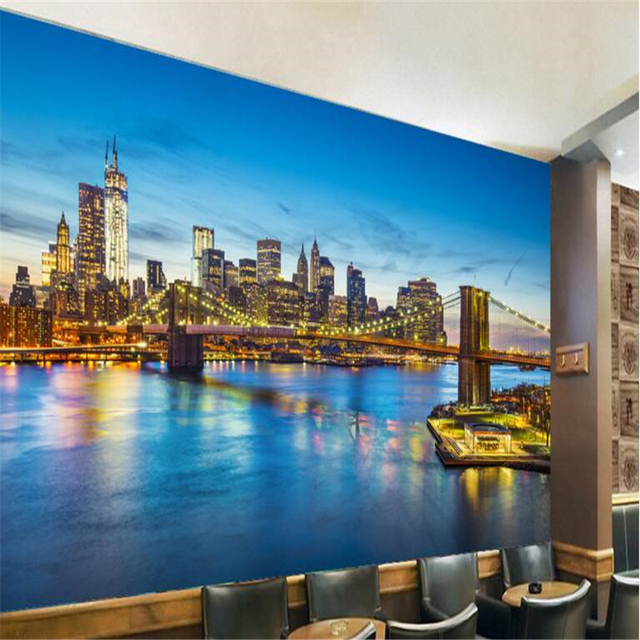 Acheter beibehang personnalis for Decoration murale vue sur new york