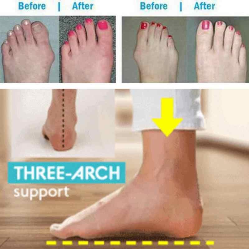 Couro do plutônio sapatos confortáveis sola plana senhoras casuais macio grande pé correção ortopédica sândalo hallux valgus corrector