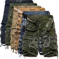 CYSINCOS 2019 Summer Men Camouflage Shorts Fashion Knee Length Casual Short Pants Tactical Camo Cargo Shorts Shorts Masculino