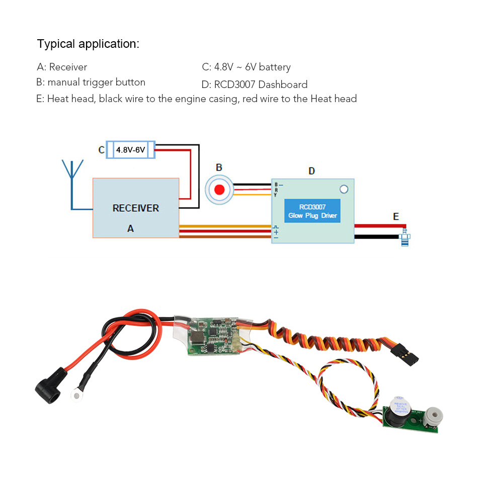 medium resolution of rc methanol engine ignition rcd3007 remote heat head driver glow plug driver for rc airplane helicopter car boat in parts accessories from toys hobbies
