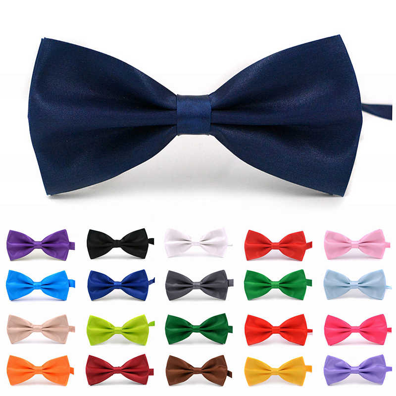Solid Colors Fashion Bow Ties For Men Bowtie Tuxedo Classic Solid Color Wedding Party Red Black White Green Butterfly Cravat