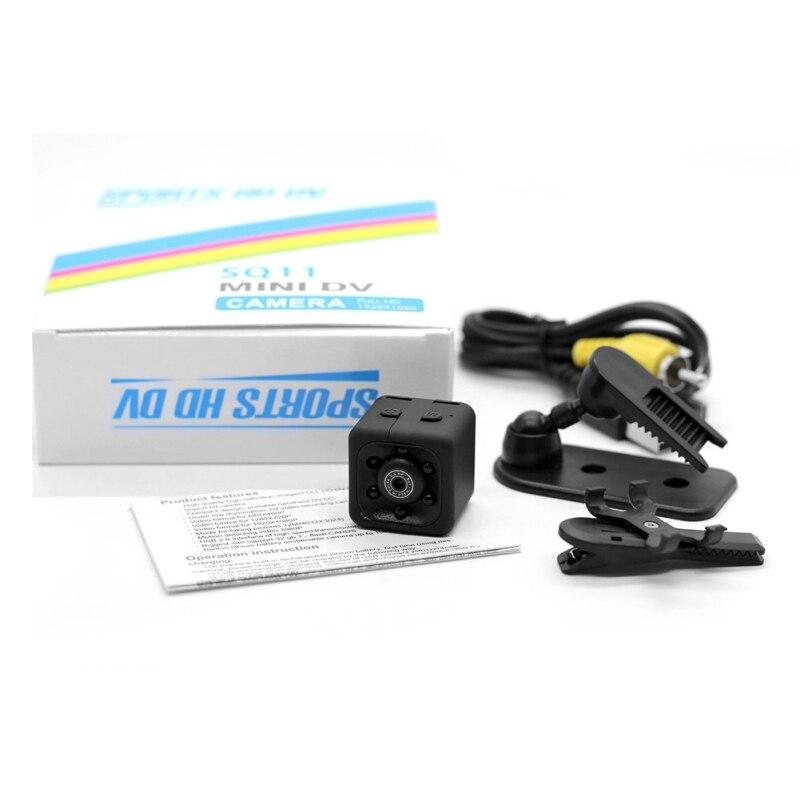 1080 P Mini Camera Sq11 Zwart Sport Camera Infrarood Nachtzicht Auto Dv Digitale Video Recorder Mini Camcorders Met Originele Doos Om Een Hoge Bewondering Te Winnen