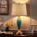 Современные креативные минималистичные настольные лампы керамическая лампа корпус медная лампа настольная лампа для спальни гостиной с р...