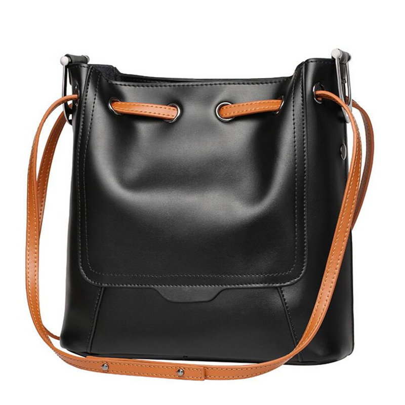 New Fashion Brand Cow Split Leather Women Handbag Europe And America Shoulder Bag Casual Ladies Bucket Bag Crossbody Bag new 2016 fashion brand genuine leather women handbag europe and america shoulder bag casual women bag page 5