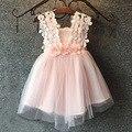 Vestido de bebê Da Menina Da Criança Roupa Do Laço Para Infantil Floral Colete Vestido de Princesa Vestidos de Crianças para crianças Roupas