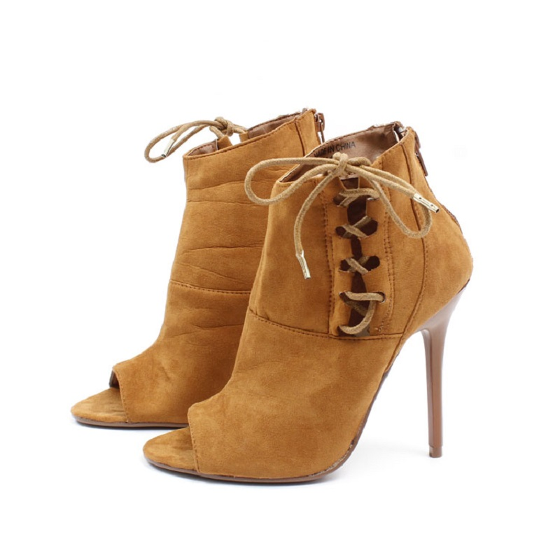 Women Shoes High Heels Retro Gladiator Sandals Flock Pointed Toe Sexy Thin Heels Sandals Cross-tied Solid Pumps Women H178 35  rome new sexy high heels wedding shoes woman 2017 brand cross tied women luxury retro square toe gladiator sandals women boots