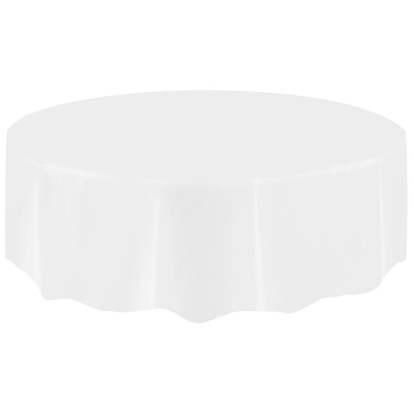 Table Cloth Restaurant living room party 2018 Large Plastic Circular Table Cover Cloth Wipe Clean Party Tablecloth Covers May29