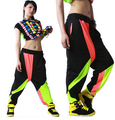 2016 New fashion Adult Brand Spring Summer Sweatpant Costumes wear harem thin patchwork jazz  trousers Hip Hop Dance Pants