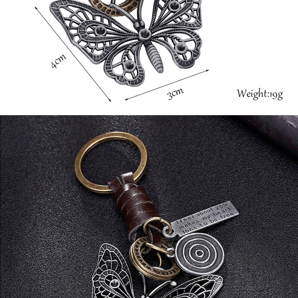 HTB1JUs.r7yWBuNjy0Fpq6yssXXa7 - Multiple Guitar Butterfly Pendant Suspension Leather Keychain Key Chain Charms for Keys Car Keys Accessories Keychain on a Bag