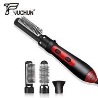 Original 3 in 1 Electric Hair Straightener Curler Multi Functional Hot Wind Heating Curling Comb Brush Professional Hair Iron