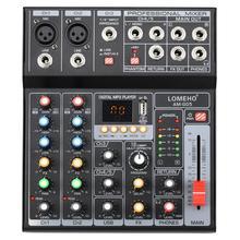 LOMEHO AM-G05 портативный Bluetooth USB воспроизведение запись 5 каналов ПК воспроизведение гитары 2 моно 1 стерео профессиональный аудио микшер