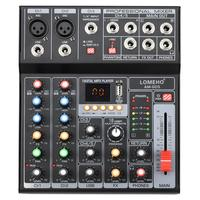 LOMEHO AM G05 Portable Bluetooth USB Play Record 5 Channel PC Playback Guitar 2 Mono 1 Stereo Professional Audio Mixer