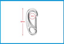 2PCS Boat Marine Stainless Steel Egg Shape Spring Snap Hook clips Quick Link Carabiner Buckle eye shackle Lobster Claw outdoor