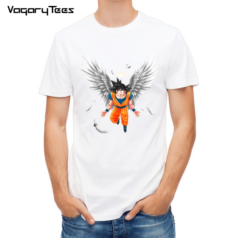 Dragon Ball T Estate Della Camicia Degli Uomini Dragon Ball Z Angelo Goku Cosplay 3D T-Shirt anime Nero Goku DragonBall Tshirt Homme