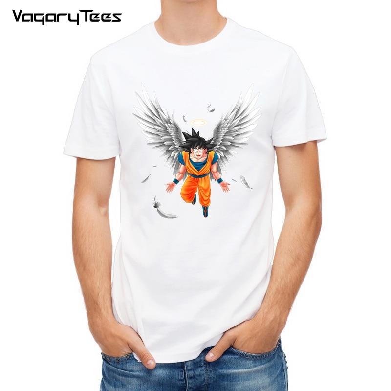 Dragon Ball T Estate Della Camicia Degli Uomini Dragon Ball Z Angelo Goku Cosplay 3D T-Shirt anime Nero Goku DragonBall Tshirt Homme