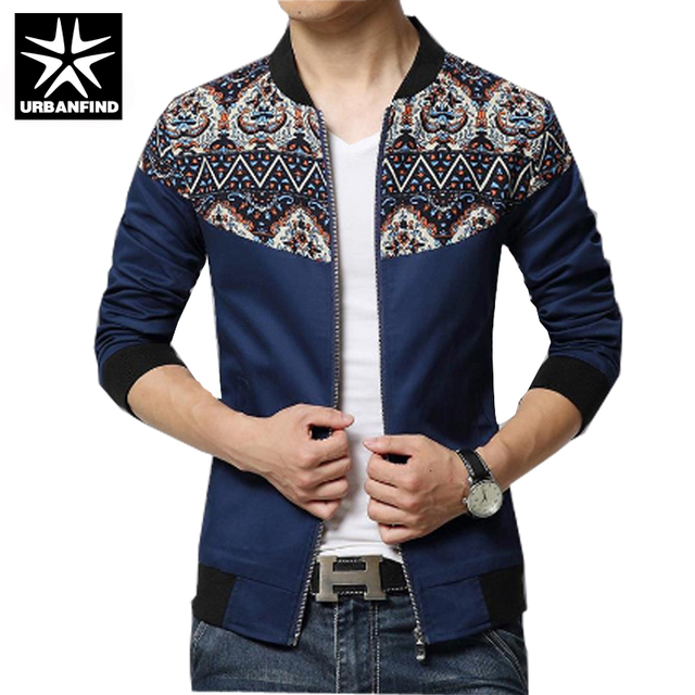 URBANFIND New Fashion Brand Jacket Men Trend Flower Sleeve Patchwork Korean  Slim Fit Mens Designer Clothes Men Casual Jacket 5XL c4f9742b8907