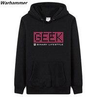 GEEK A Binary Lifestyle Man S Regular Hoodies Sweatshirts GEEK Fan S Must Have Pullover Fleece