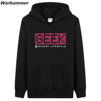 GEEK A Binary Lifestyle Man S Regular Hoodies Sweatshirts GEEK Fan S Must Have Pullover Fleece