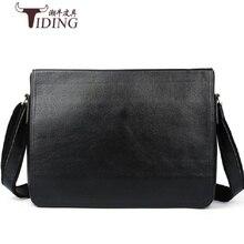 genuine  Leather Bags for Men Briefcases Business Travel  Men's Shoulder Bag real Leather black Messenger Bag briefcase male