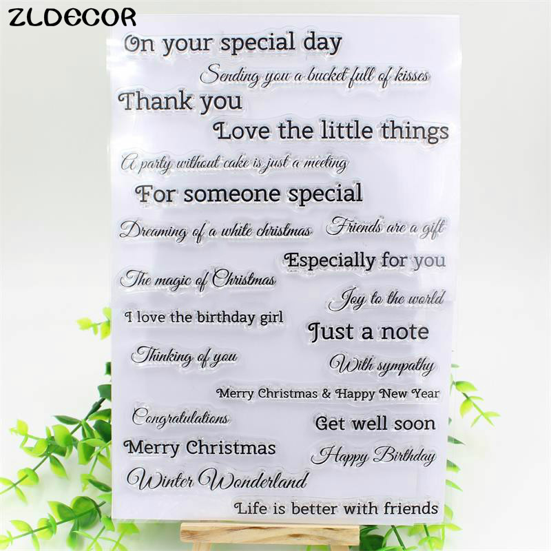 ZLDECOR On Your Special Day Transparent Clear Silicone Stamp/Seal for DIY scrapbooking/photo album Decorative clear stamp sheets last day on mars