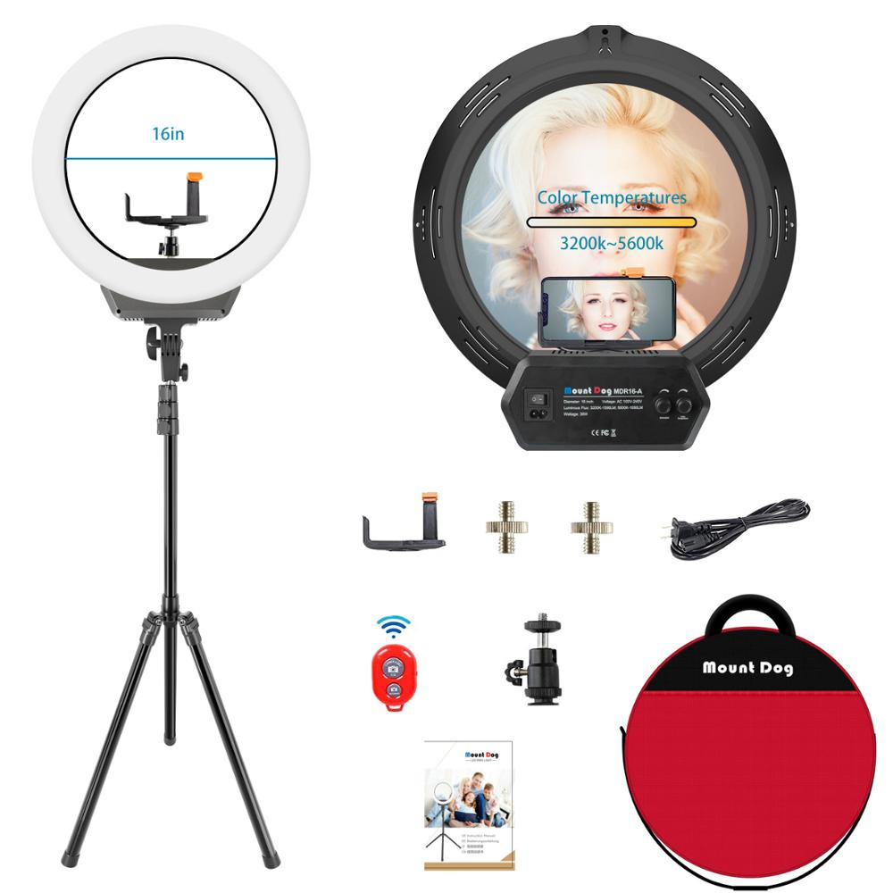 16 inch Ring Light Photography video led Dimmable phone With Phone Holder Tripod selfie photographic studio 3200-5600k lamp16 inch Ring Light Photography video led Dimmable phone With Phone Holder Tripod selfie photographic studio 3200-5600k lamp