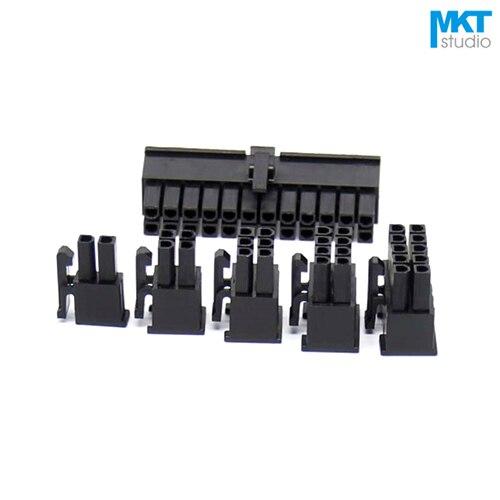 100Pcs Black 5557 Series 4.2mm Pitch Female Housing Box Header 2x4P 2x5P 2x6P