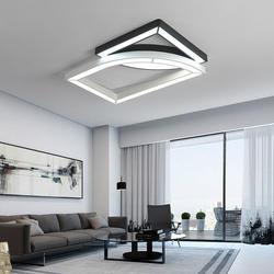 Черный/белый современный светодиодный люстры для Гостиная Спальня Кухня 24 Вт/36 Вт люстры luminaria блеск lampadario avize