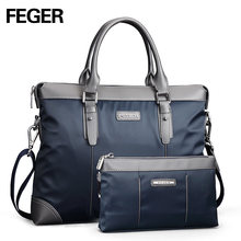FEGER Nylon Men Bag Business Briefcase Handbag Shoulder Bag Daily Use 13″Laptop Bag Free Shipping