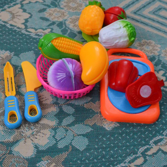 HOT 12PC Cutting Fruit Vegetable Pretend Play Children Kid Educational Toy Levert Dropship Oct 07