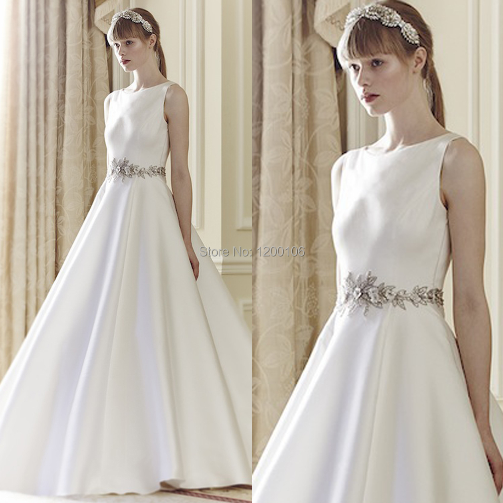 Simple Elegant White Evening Gowns