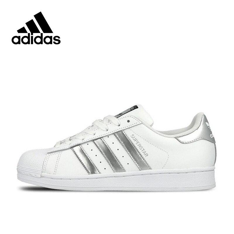 8a958257f0e Nova Chegada Original Autêntico Adidas SUPERSTAR Respirável Skate Sapatos  de Desporto Ao Ar Livre das Mulheres