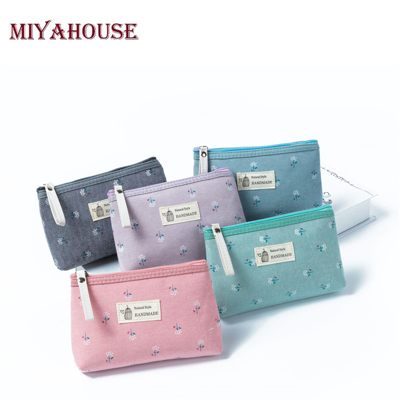 Miyahouse 2018 Floral Printing Cosmetic Bag Women Zipper Fashion Makeup Bags Travel Organizer Necessary Beauty Case Toiletry Bag