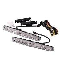 1 Set 12V Super Bright LED Daytime Running Light DRL Daylight Kit Fog Driving Lights With