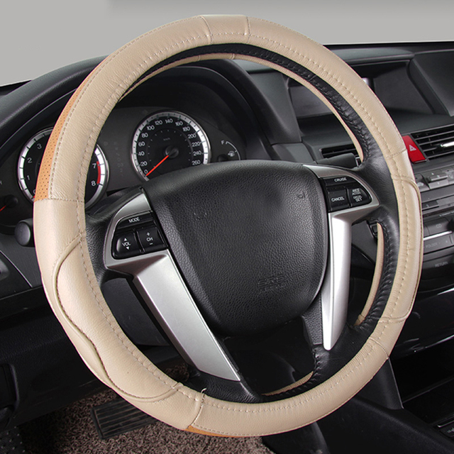 Auto Steering Wheel Cover Genuine Leather Car Steering Wheel Covers - Acura steering wheel cover