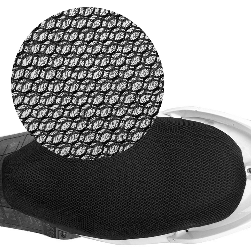 2017 3D Motorcycle Electric Bike Breathable Net Seat Cover Protector Cushion Black JUN19
