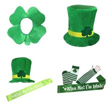 3c140ab0967a3 Trevo irlandês Chaminé Chapéu Verde Top De Veludo Chapéu St. Patricks Day  Party Traje Leprechaun