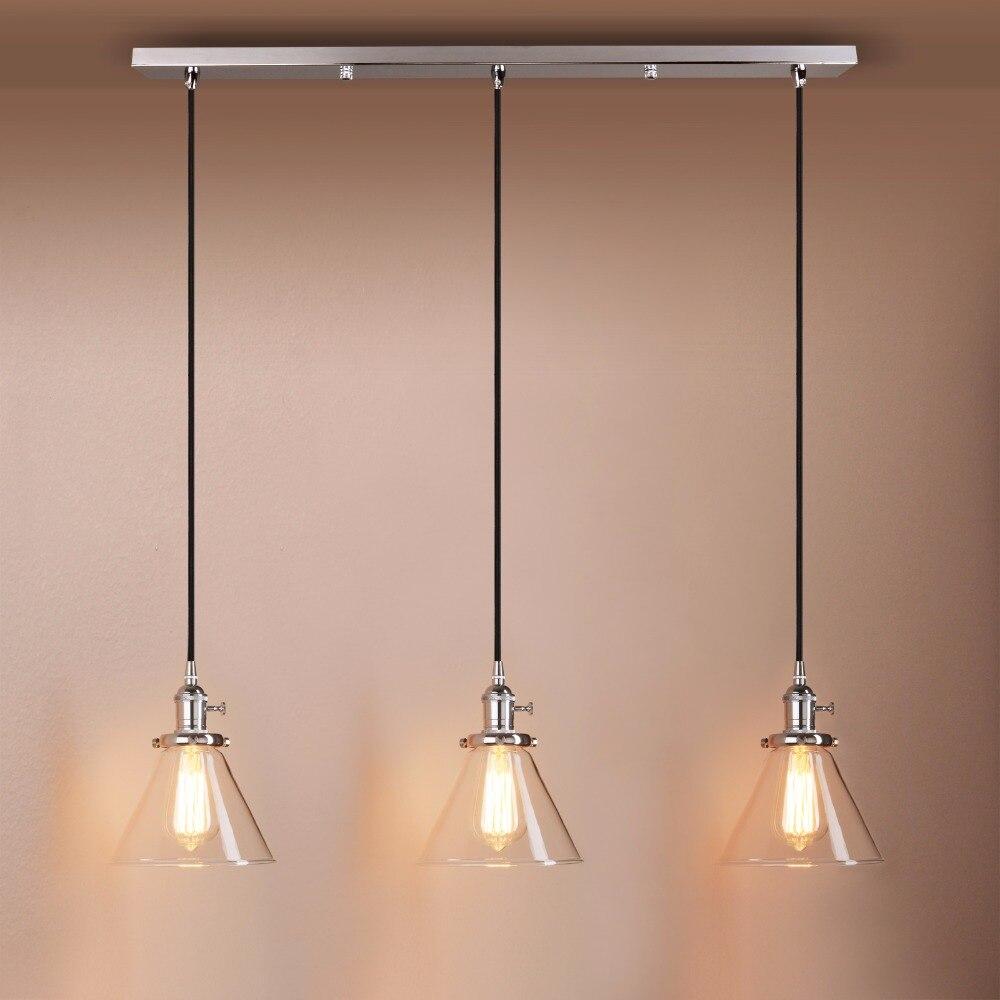 Kitchen Pendant Light Bedroom Lamp Bar Ceiling Light: Permo Modern 5.9'' Funnel Glass Pendant Light Pendant Lamp