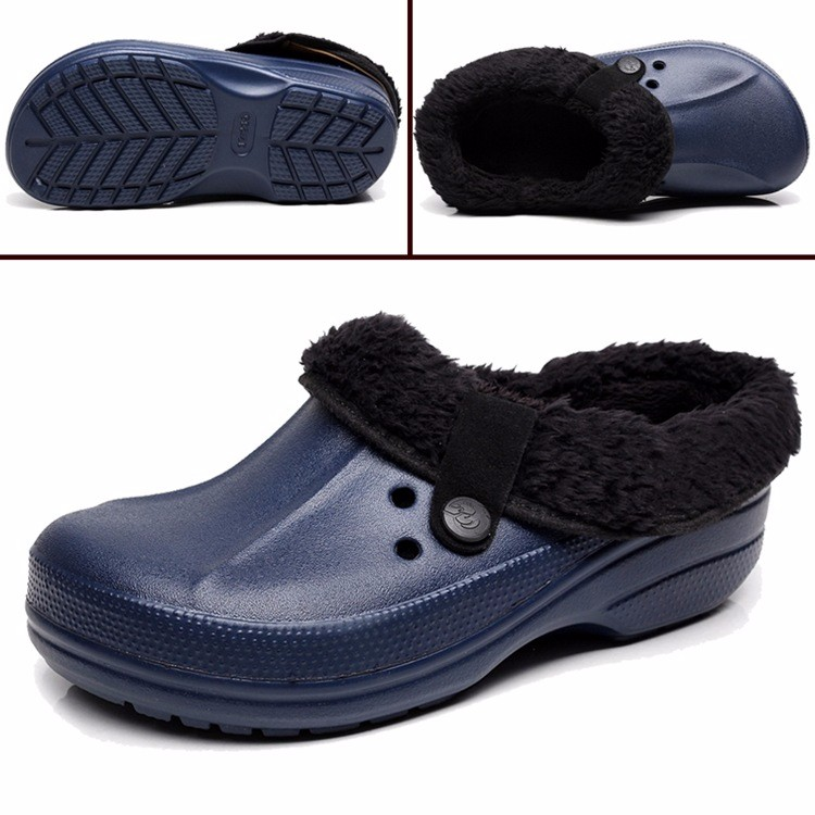 Women's Winter Clogs Men's Garden Shoes EVA Waterproof Outdoor Slippers Clogs For Men Women Clog Man Candy Color Warm 36-44 (7)