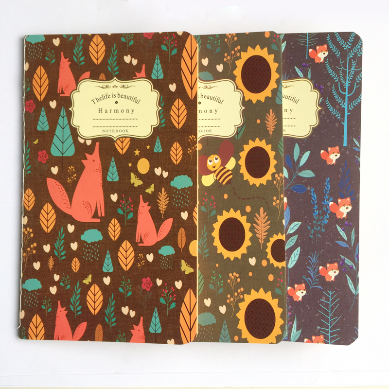 20 Sheets Forest Fox Bee Blank Kraft Paper Notebook To Do List School Office Supply Student Stationery