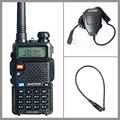 Walkie Talkie Baofeng UV-5R Two Way Radio Baofeng VHF&UHF 136-174MHz 400-520MHz + NA-771 Antenna + Handheld Microphone Speaker