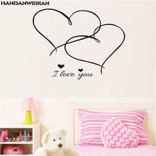купить 2019 explosion-proof love wall stickers for the bedroom stickers on the wall decoration stickers for the living room  home decor по цене 184.97 рублей