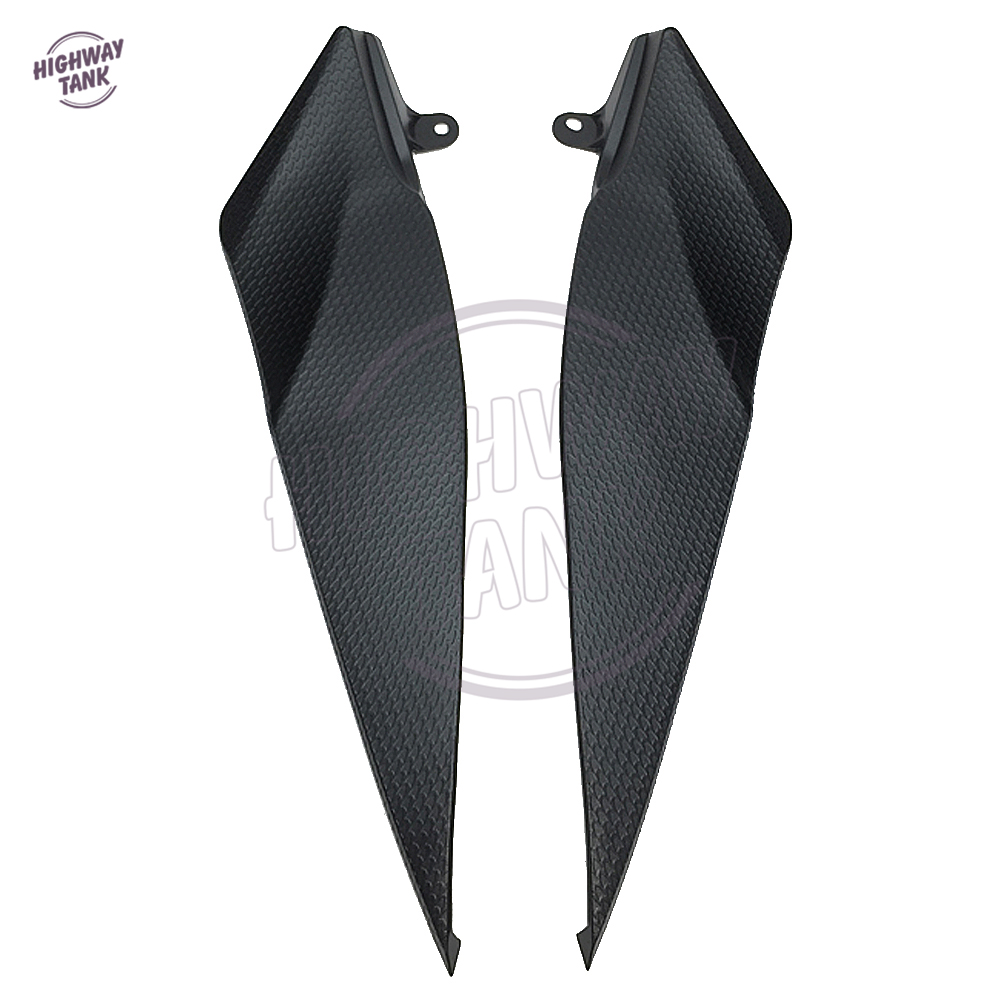 Black Motorcycle Tank Side Cover Panel Fairing Trim Cowl case for YAMAHA YZF R1 YZFR1 2007 2008
