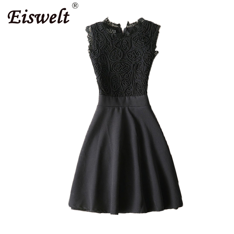 EISWELT Vestidos Lace Dress Elegant Women Short Prom Office Slim Party  Dresses Summer 2018 Casual Beach e931312cb7
