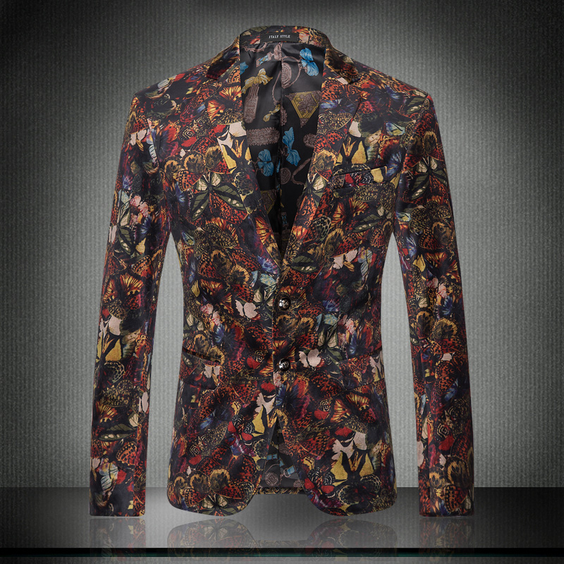 2016 mens suits jackets blazers fancy printing veste homme velvet flowers mens floral blazers. Black Bedroom Furniture Sets. Home Design Ideas