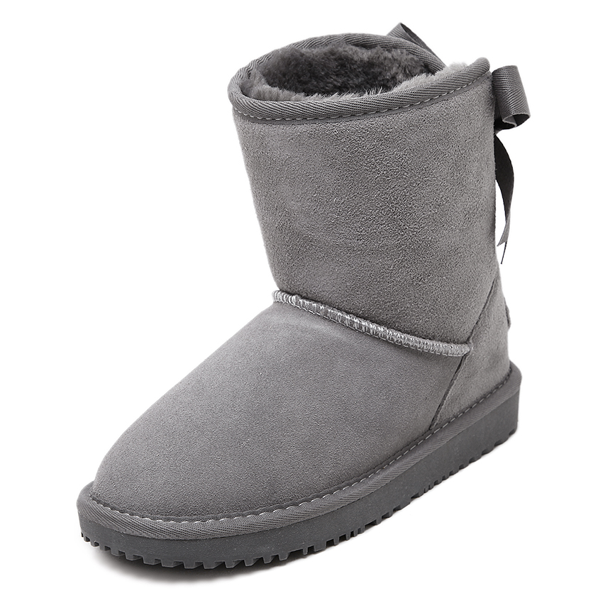 New australia winter shoes women's snow boots shoes woman sheepskin genuine leather flat ankle boots bowtie 100% wool size 35-44 new australia winter shoes women s snow boots shoes woman sheepskin genuine leather flat ankle boots bowtie 100% wool size 35 44