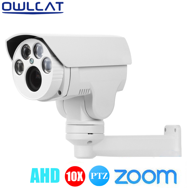 Full HD 1080P 960P Analog High Definition AHD MINI Outdoor Bullet PTZ Camera 10X auto focus Zoom 5mm-50mm Varifocal lens IR cut ahd analog high definition long range ir bullet