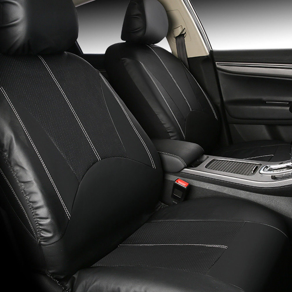 4 Pieces Set Luxury PU Leather Car Universal Car Seat Covers Automotive Seat Covers All The Year Round Fine-quality