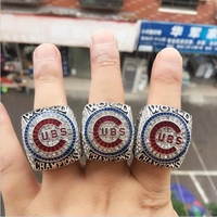 2016 CHICAGO CUBS WORLD SERIES CHAMPIONSHIP RING BRYANT RIZZO ZOBRIST REPLICA RIING 3 PLAYER NAMES AS