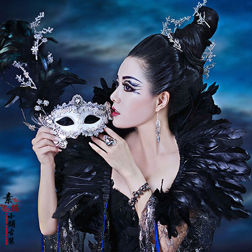 An Ye Li Ming Dawn In Darkness Night Thematic Photography Costume For Women Darkness Hag Halloween Cosplay Costume