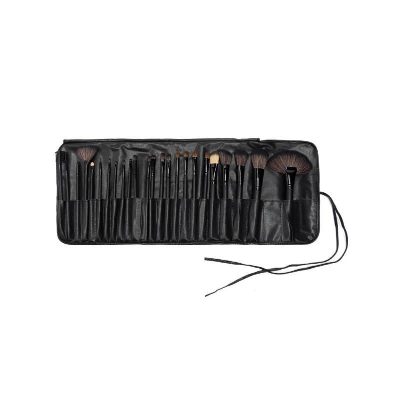 Sponge Puff + 24 PCS Cosmetic makeup brushes   x703 2pcs waterdrop sponge puff and 2pcs holder